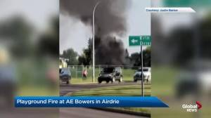 Youth charged in Airdrie playground fire (02:09)