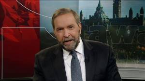 Mulcair speaks out regarding shooting in nation's capital