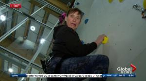#OurYYC on the Road: climbing wall fun with Leslie Horton