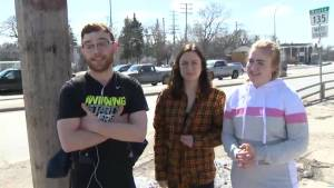 Glenlawn students share their feelings about an asault Wednesday (00:36)