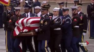 Bush funeral: 41st president's casket begins journey to Texas A&M