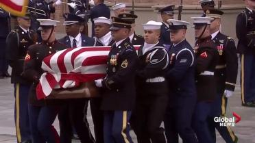 George H W Bush Returns Home To Texas For Final Funeral
