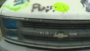 Vandalized van targeted in Port Coquitlam
