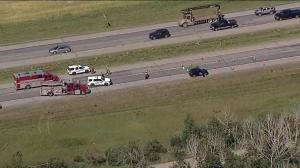 Highway 2 closed after fatal pedestrian collision