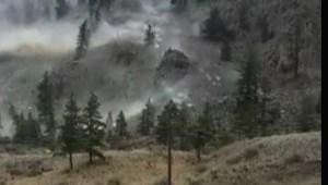 B.C. man shares adrenaline-fueled reaction to rockslide near Keremeos