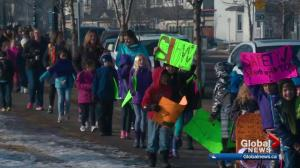Edmonton students take to the streets to demand safety