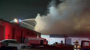 Ministry of Environment notified after massive fire at industrial complex in Hamilton
