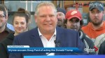 Kathleen Wynne calls Doug Ford a bully, directly compares PC leader to Donald Trump