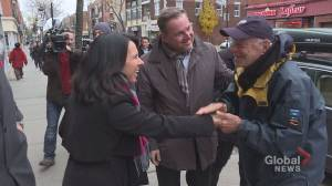 Montreal Mayor Valérie Plante meets with business owners