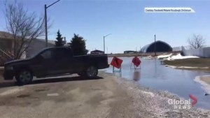 Videos posted to Facebook shows flooding around Beiseker