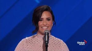 Singer Demi Lovato talks about mental illness during DNC