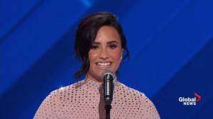 Singer Demi Lovato talks about mental illness during DNC