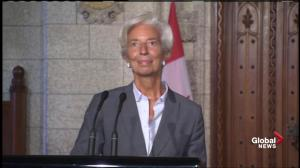 'Hope it can be completed, agreed, put to bed, implemented': IMF's Lagarde on free trade between Canada, EU