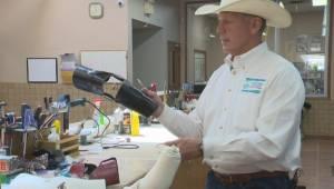 Lethbridge orthotist creates elbow brace to improve safety for cowboys