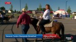Going for a pony ride at the Genesis Centre Stampede breakfast
