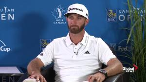 Dustin Johnson excited to play in front of Canadian fans