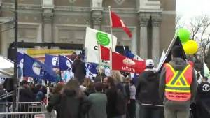 Call for minimum wage increase at Montreal May Day rally