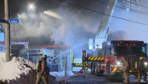 5-alarm fire in Montreal North industrial building