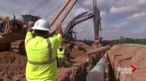 How realistic is the B.C. first policy for pipeline expansion jobs?