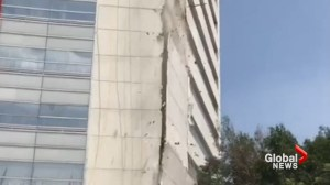 Outer wall of Mexico City building collapses after earthquake