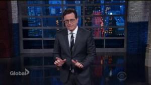 Stephen Colbert weighs in on Trump's firing of FBI director James Comey