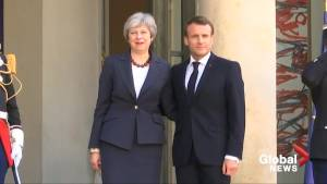 U.K.'s May meets with Macron over Brexit delay