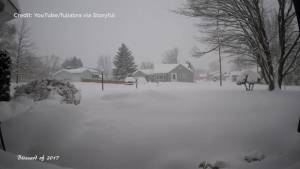 Pennsylvania man records timelapse video of blizzard hitting his neighbourhood