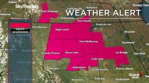 Alberta heat warning issued by Environment Canada