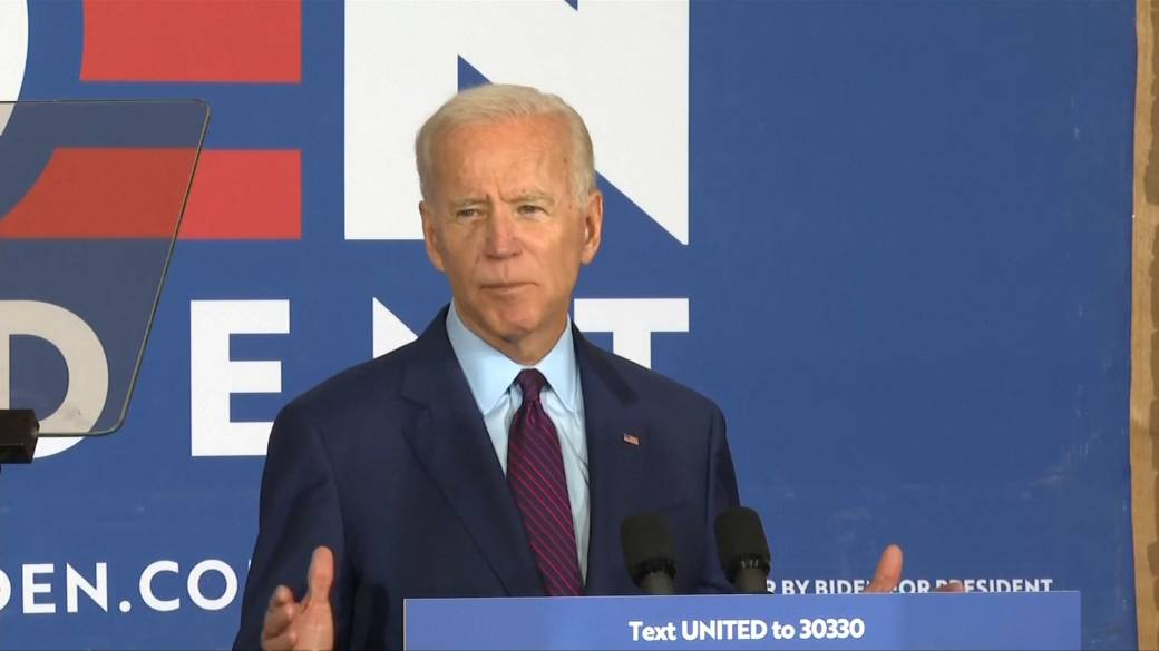 Click to play video 'Biden says Trump 'fanned the flames' of white supremacy'