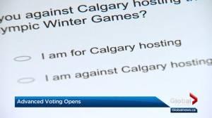 Advance voting has begun in Calgary Olympic plebiscite