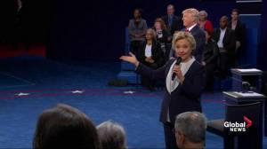 Presidential debate: Clinton explains 'deplorables' comment, claims it characterized Trump