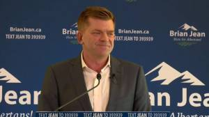 Jean says he will end carbon tax and fight for fair equalization (01:03)