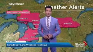Canada Day long weekend heatwave