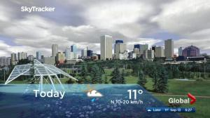 Edmonton early morning weather forecast: Wednesday, September 13, 2017