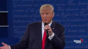 Presidential debate: Trump says he respects the fact Hillary doesn't give up
