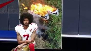 """b944af373383 """"If you're born a refugee, don't let it stop you from playing soccer for  the national team at age 16,"""" Kaepernick says."""