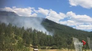 Hwy 33 brush fire begun by crash
