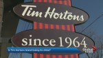Is the Tim Hortons' brand permanently coffee stained?
