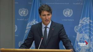 Trudeau says theme of 'people' at UN guided tone of his speech