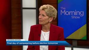 Kathleen Wynne responds to question if she regrets conceding race
