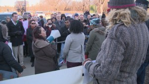 Rally at provincial Legislature in support of Syrian refugees