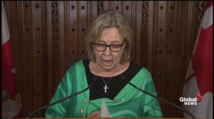 Fall Economic Updates: 'Absence of understanding we're in a climate emergency': Elizabeth May