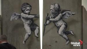 Banksy creates replica separation wall dividing territories in Bethlehem for London travel fair