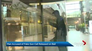 Fake gun call suspect out on bail