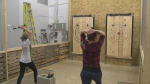 An anti-Valentine's Day with Bad Axe Throwing