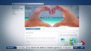 Facebook page gives daily thanks and support to Alberta paramedics