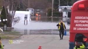 Emergency evacuations in Sainte-Marthe-sur-le-Lac as dam breaks