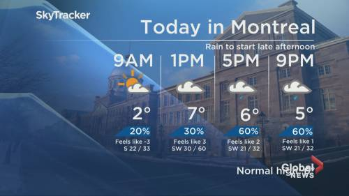 Global news morning weather forecast thursday march 28 watch news videos online - Div position bottom ...