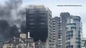 Vancouver West End high rise fire