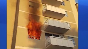 Fire in an apartment complex in Lindsay Friday morning forces residents to flee their home.
